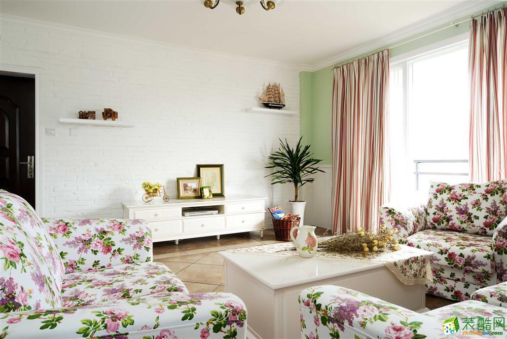 【橙家装饰】118平米田园风格三居室装修案例图