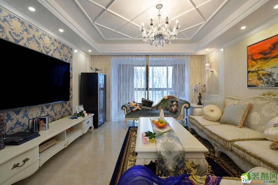 【橙家装饰】140平米欧式风格三居室装修案例图