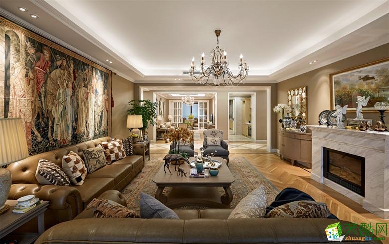【顺吉装饰】盛世钱塘151�O三室两厅混搭风格装修效果图