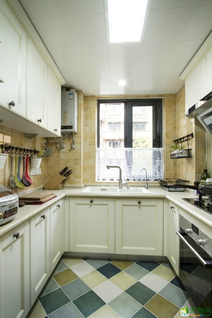 【绿森林装饰】复地花屿城96平米美式三居室装修案例图赏析。