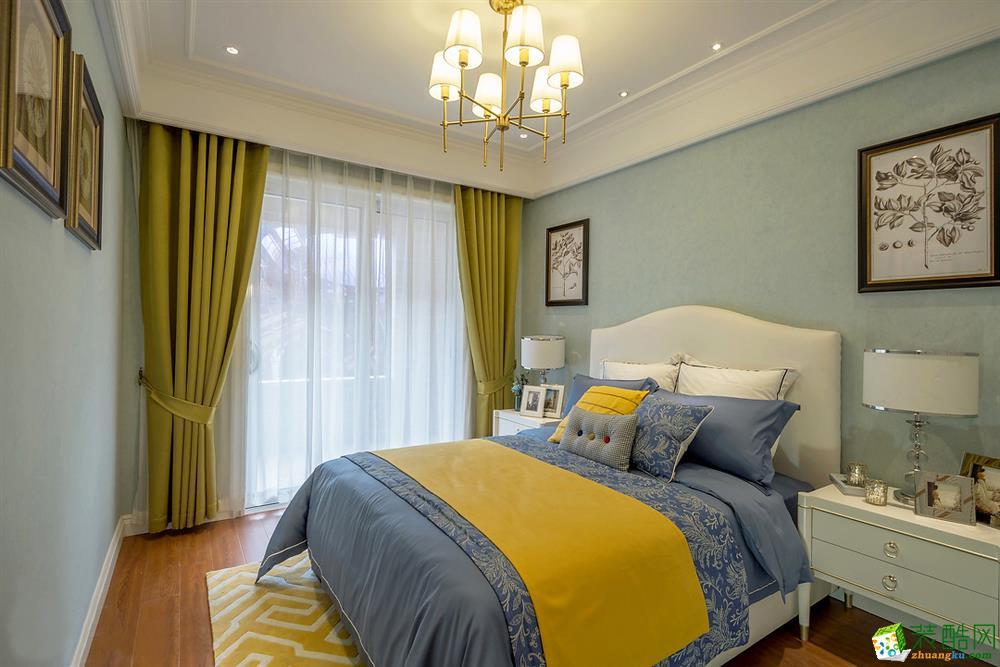 【维享家装饰】凡尔赛120平米美式风格三居室装修实景案例图赏析。