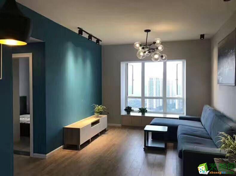 【鑫艺家装饰】75平米简约风格两居室装修案例图