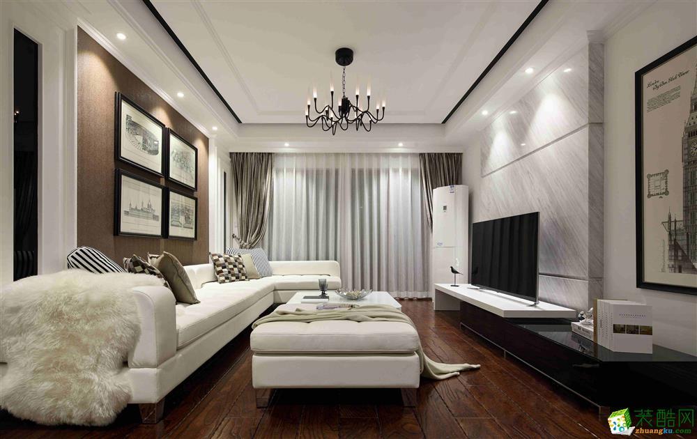 【鑫艺家装饰】110平米现代风格三居室装修案例图