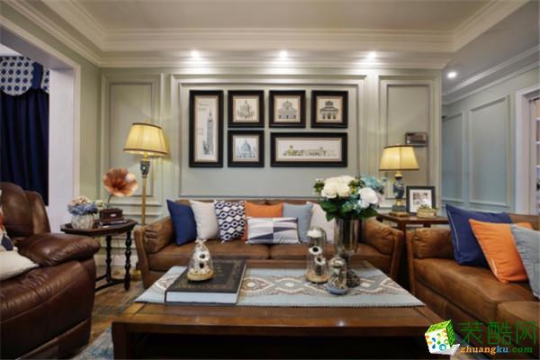 三室两厅 130平 美式风格 装修效果