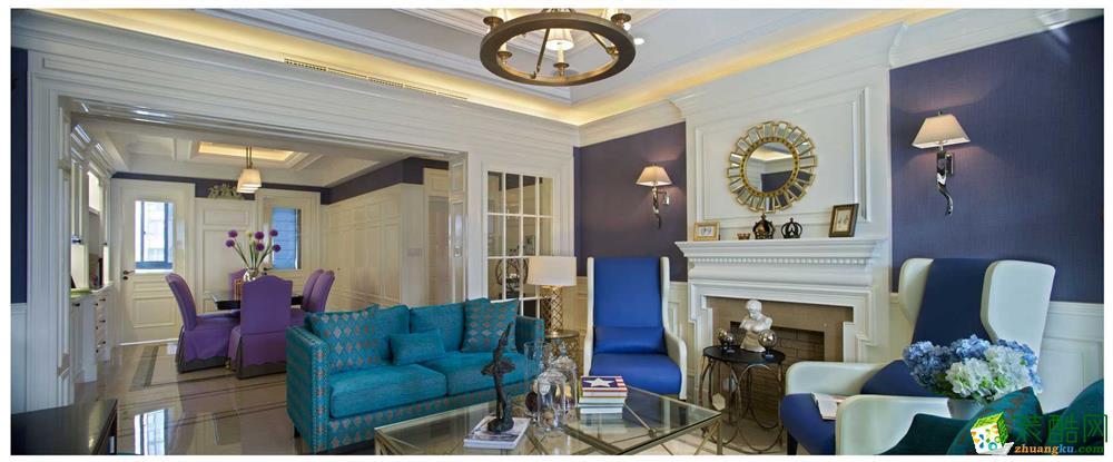 【鑫艺家装饰】110平米地中海风格三居室装修案例图赏析。