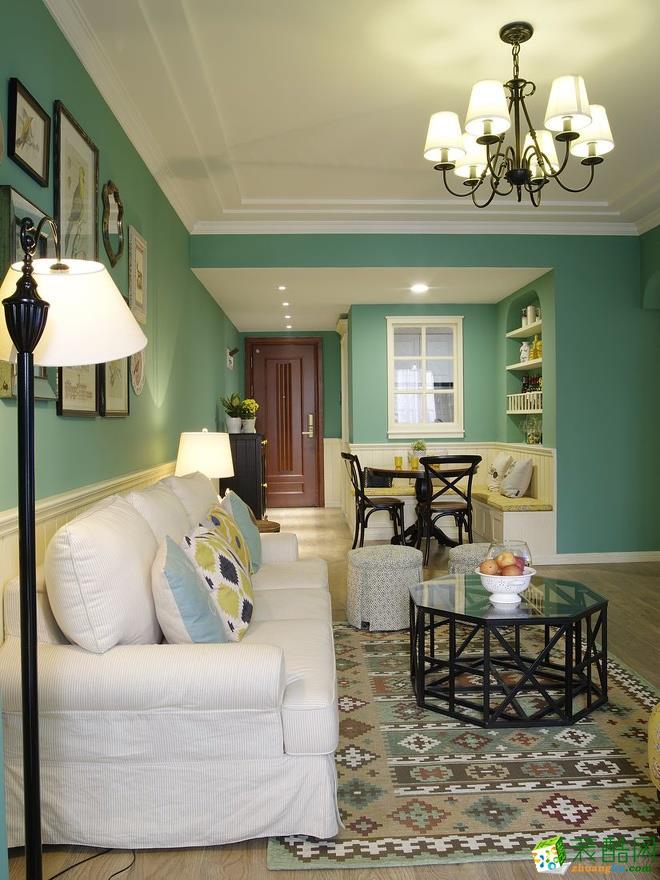 【千友居装饰】75平米美式乡村风格三居室装修案例图