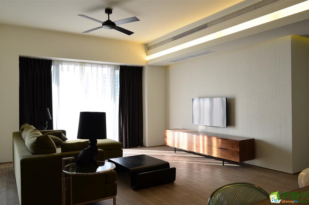 【千友居装饰】100平米港式风格三居室装修案例图