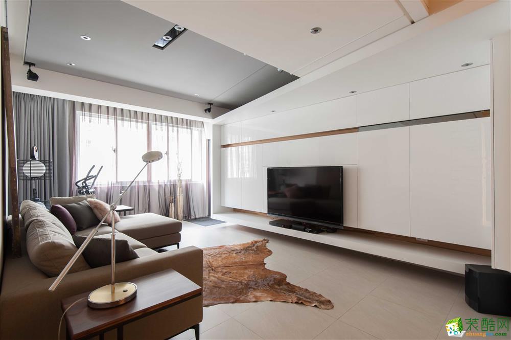 【千友居装饰】110平米混搭风格三居室装修案例图