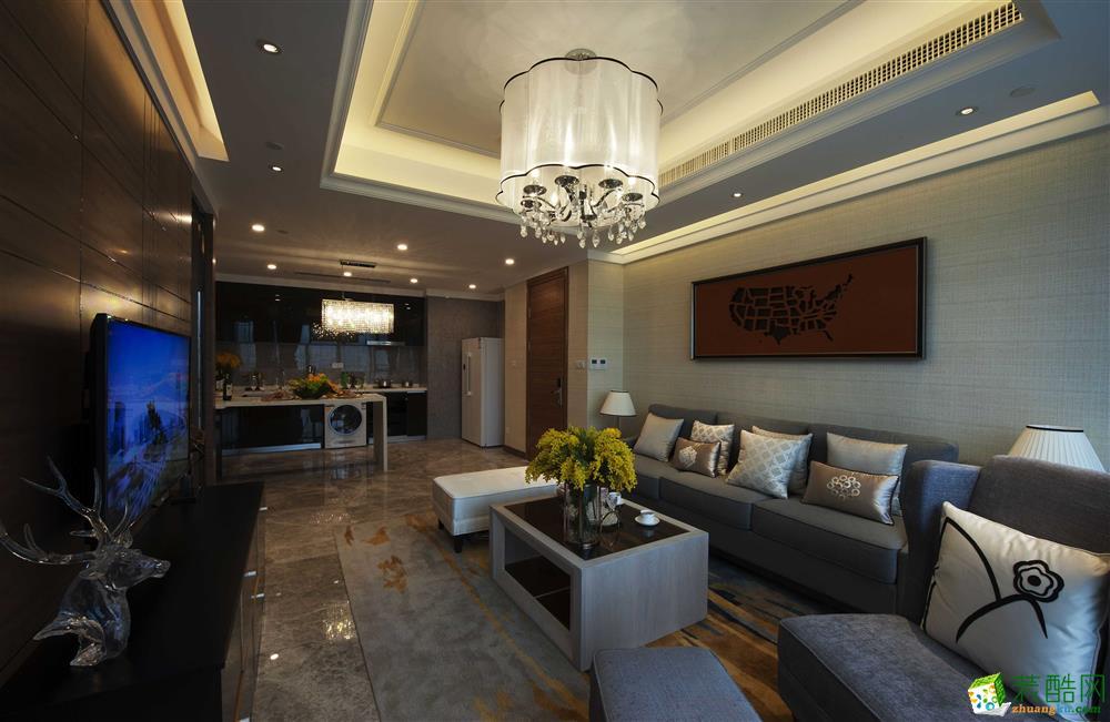 【千友居装饰】130平米港式风格四居室装修案例图