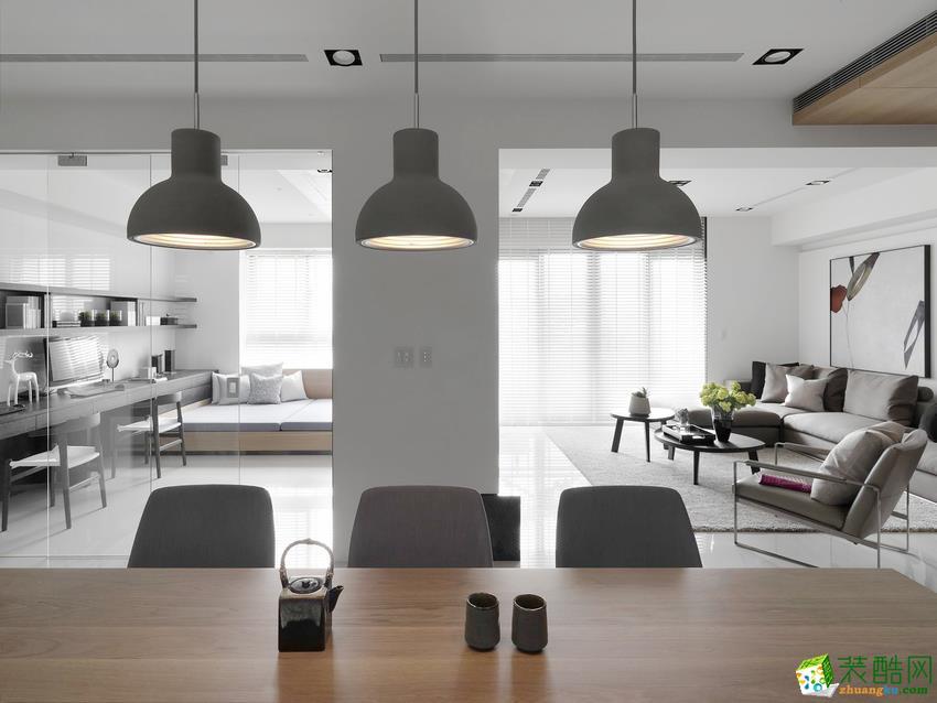 【杭州恒诚装饰】100�O北欧风格三室一厅装修效果图