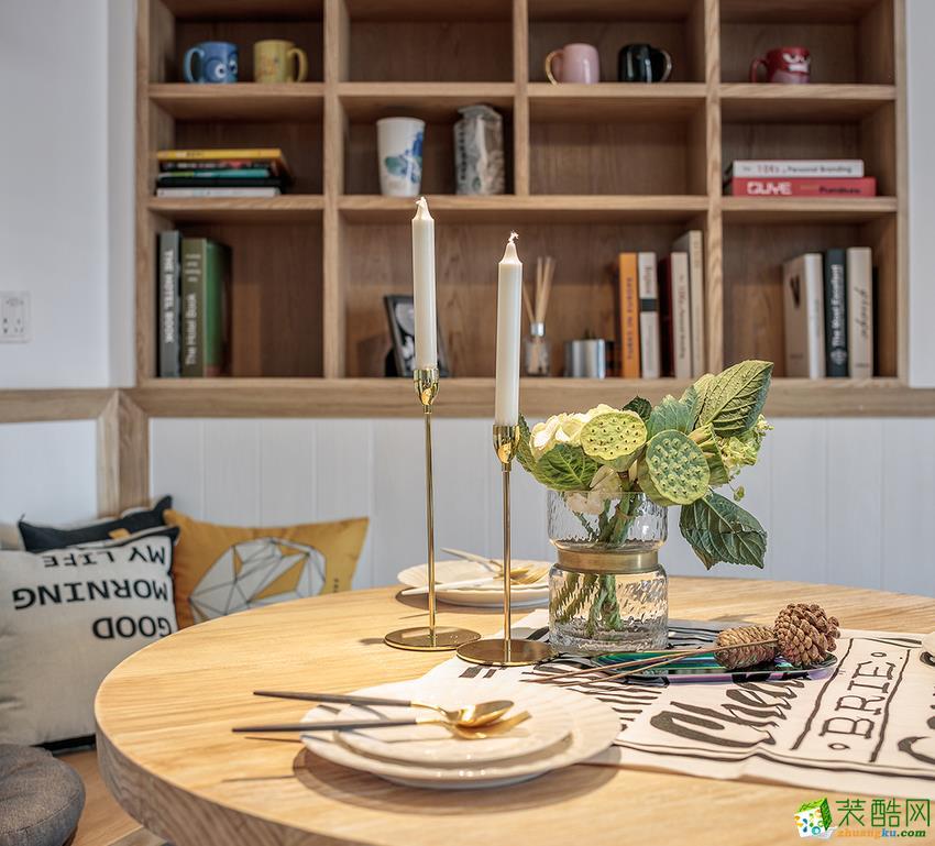【顺晶国际】89方北欧风格两室一厅装修效果图