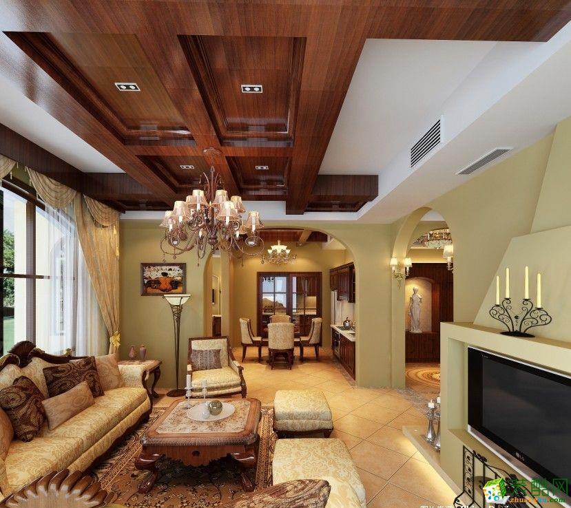 【福圣鑫装饰】首创城120�O混搭风格四室两厅装修效果图