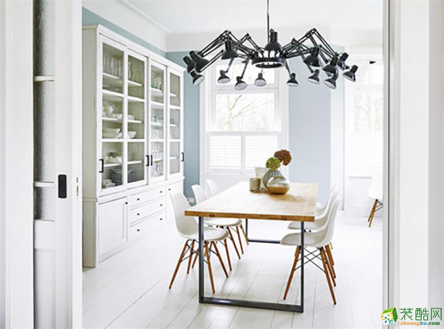 【天世居装饰】金科廊桥78平米白色简约公寓凸显端庄两居室装修案例图赏析。