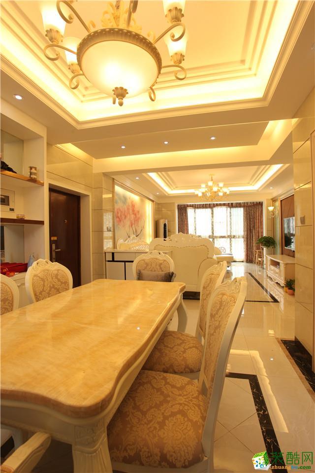 维享家装饰---融景城83平米欧式风格三居室装修案例图赏析。