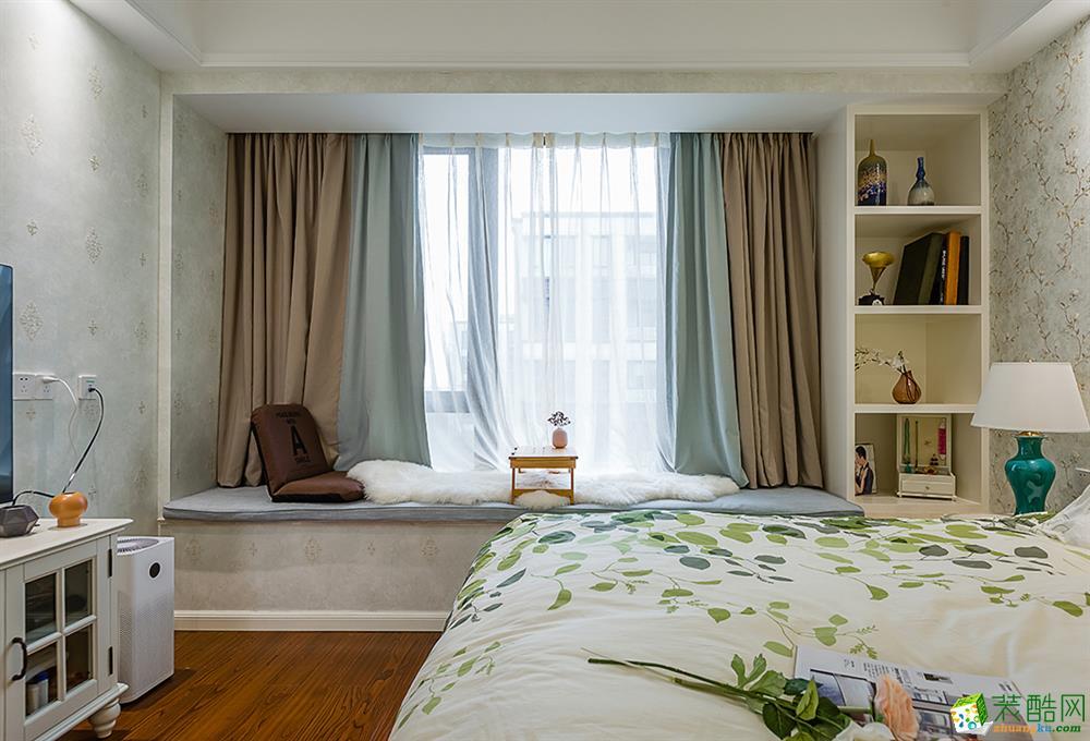 【恒彩装饰】大华西溪澄品140�O美式四室两厅装修效果图