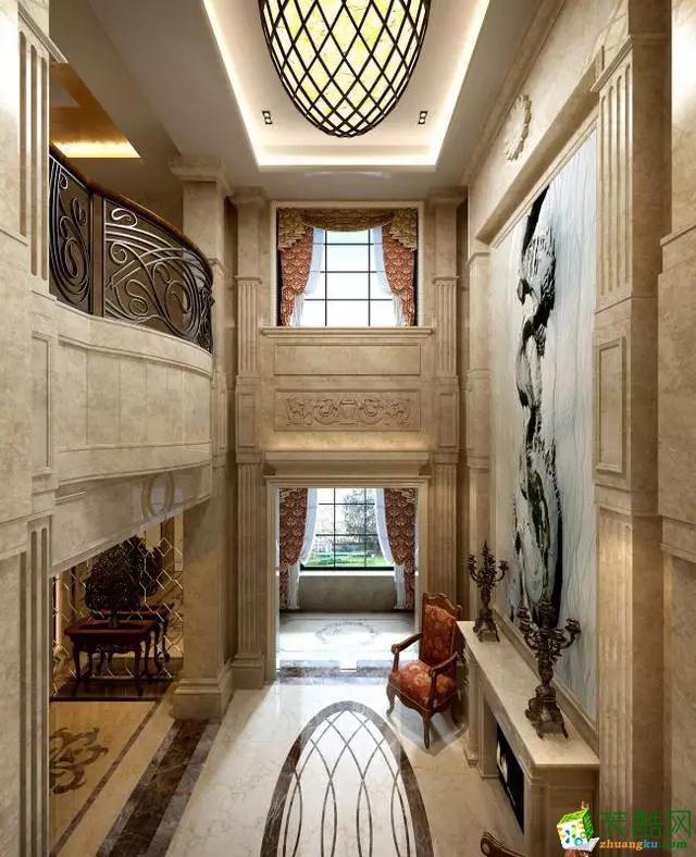 【创美乐居装饰】550�O独栋别墅美式风格装修效果图