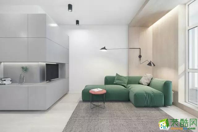 【创美乐居装饰】绿地玫瑰城130�O现代简约风格装修效果图