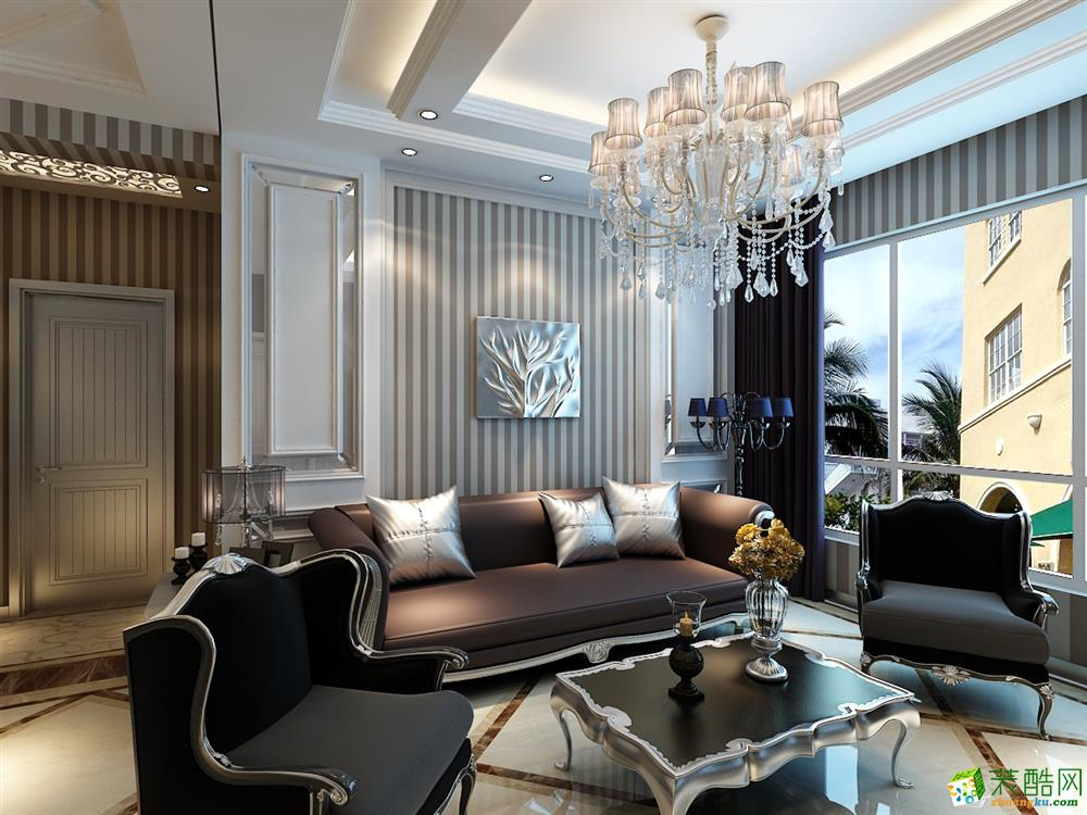 万达华宅-两居室-欧式风格