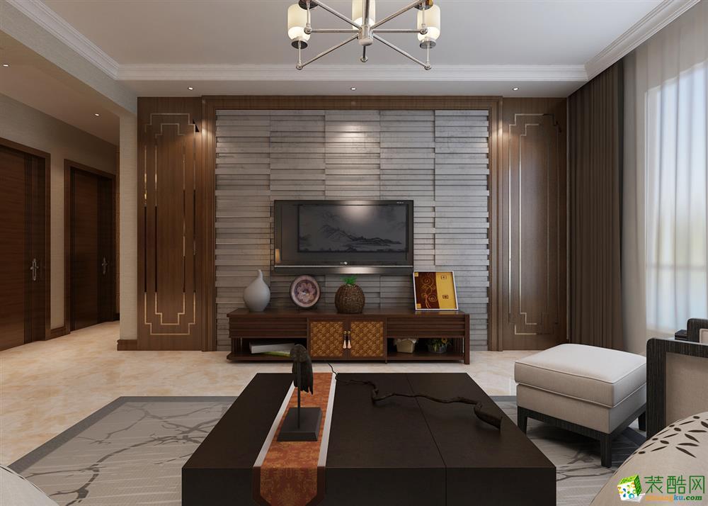 汇银东第-三居室-中式风格