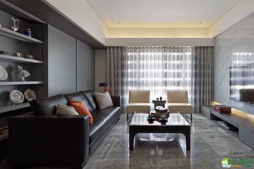 【武汉业之峰】御才名仕78方现代简约风格两室两厅装修效果图