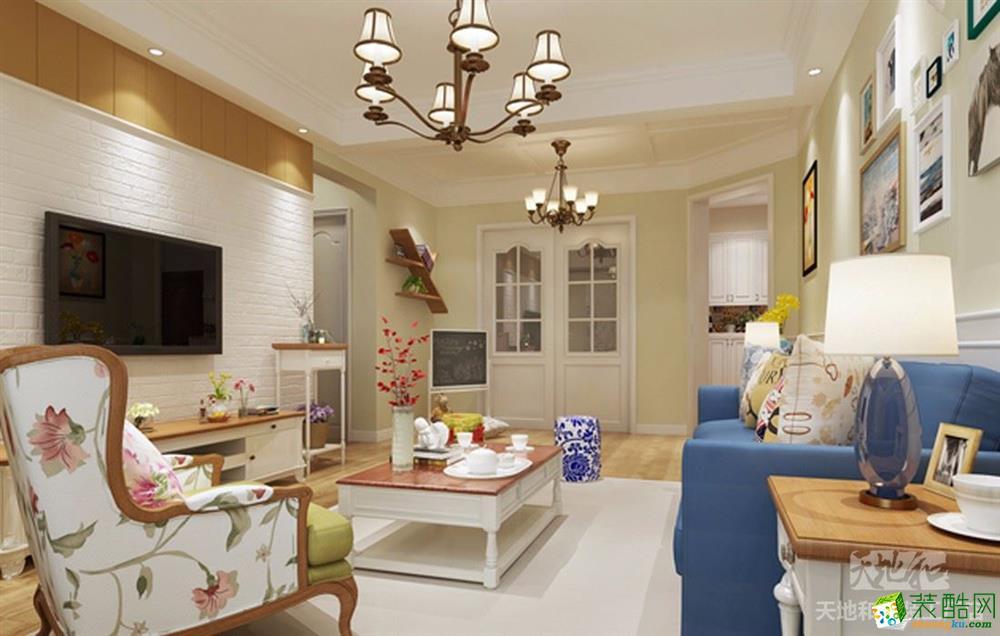 【武汉天地和】江欣苑80�O两室两厅美式风格装修效果图