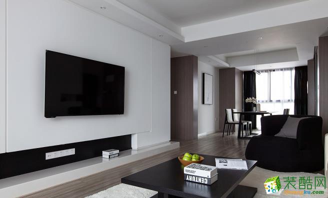 客厅 140平四居室现代风格装修效果图-客厅侧面赏析 140平四居室现代风格装修效果图-鼎耀佳装饰