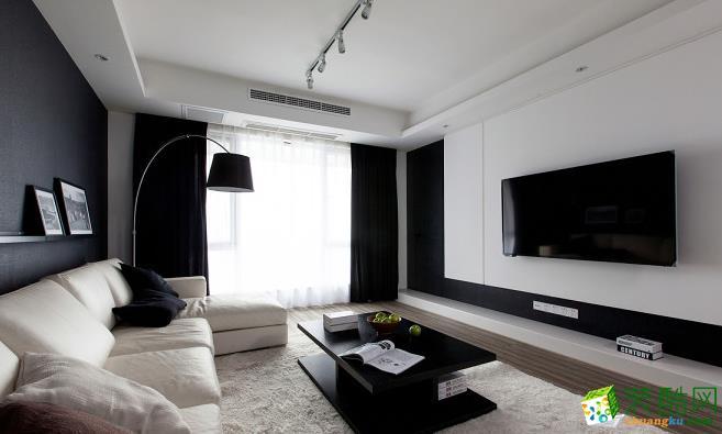客厅 140平四居室现代风格装修效果图-客厅正面赏析 140平四居室现代风格装修效果图-鼎耀佳装饰