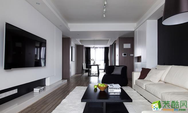 140平四居室现代风格装修效果图-鼎耀佳装饰