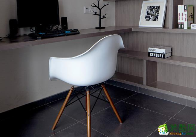 140平四居室现代风格装修效果图-书房赏析