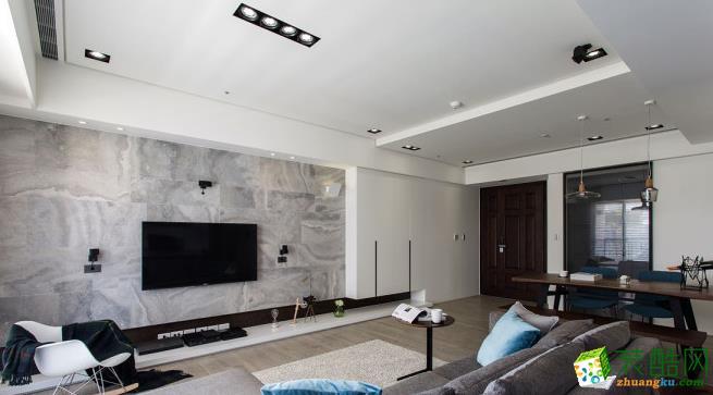 52平二居室现代风格装修效果图-鼎耀佳装饰