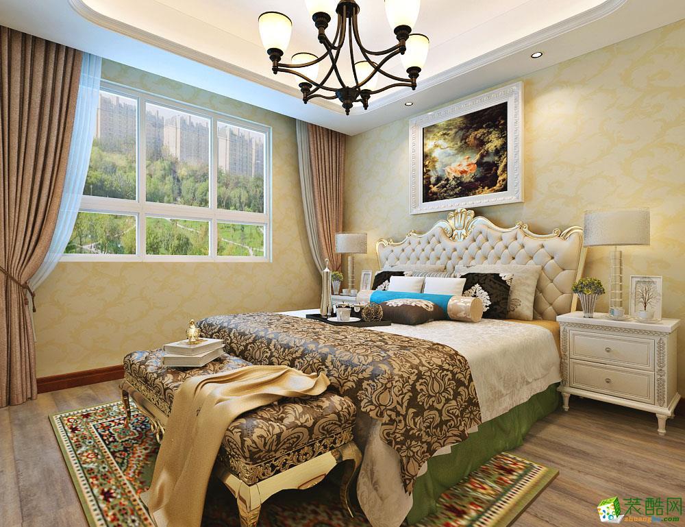 【大树装饰】万达城81�O欧式风格两居室装修效果图