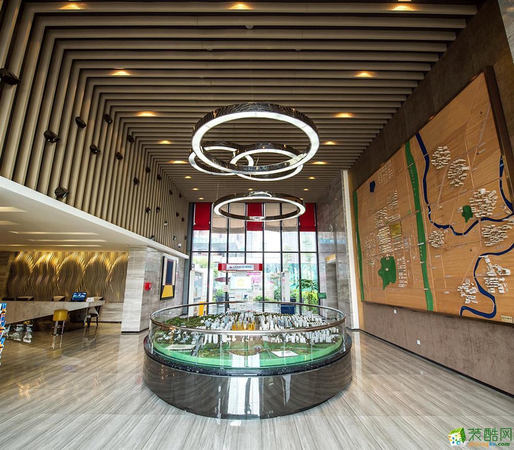 【瀚方装饰】光和城售房部900平米现代风格售楼中心装修案例图