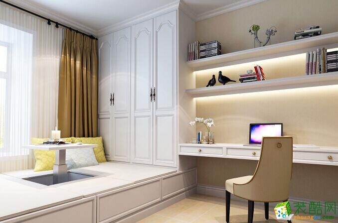 【阔达装饰】阳光花园98�O美式风格三室一厅装修效果图
