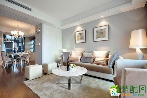 【绿森林装饰】富力城倾城里90�O欧式风格三居室装修案例图