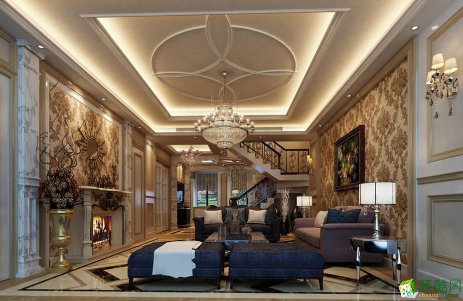 新思路装饰---绿地翠谷(欧式风格)270�O别墅案例