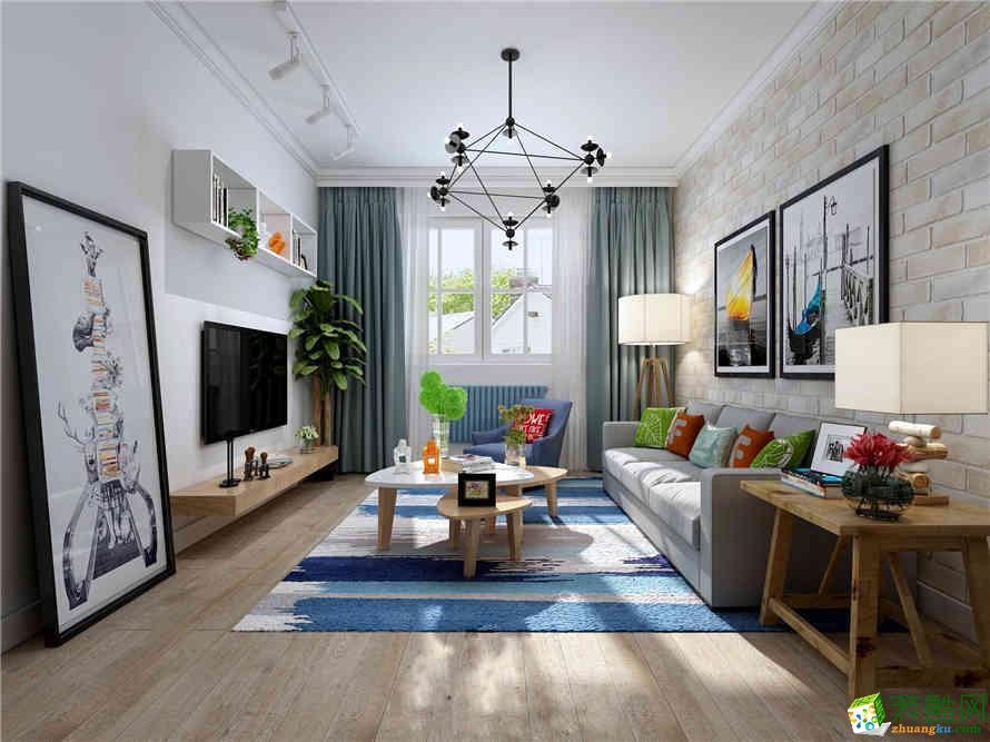 【重庆红玛瑙装饰】芭厘芭厘50平米北欧风格一居室装修案例图赏析。