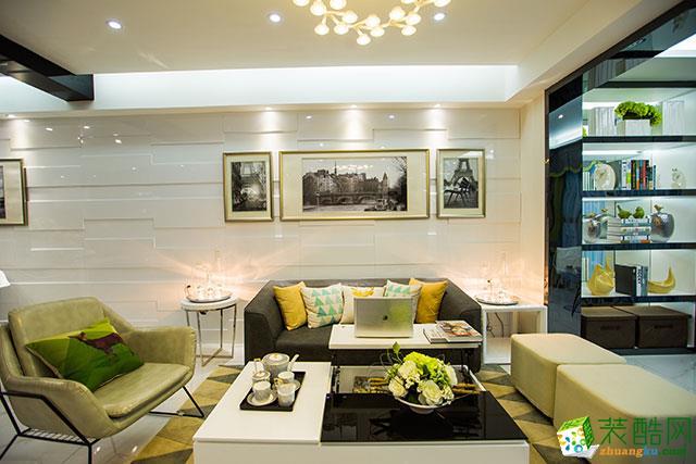 【大本营装饰】国奥村103平米现代简约风格三居室装修案例图
