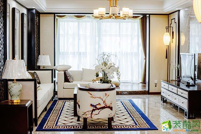【大本营装饰】金科廊桥水乡130平米新中式三居室装修案例图