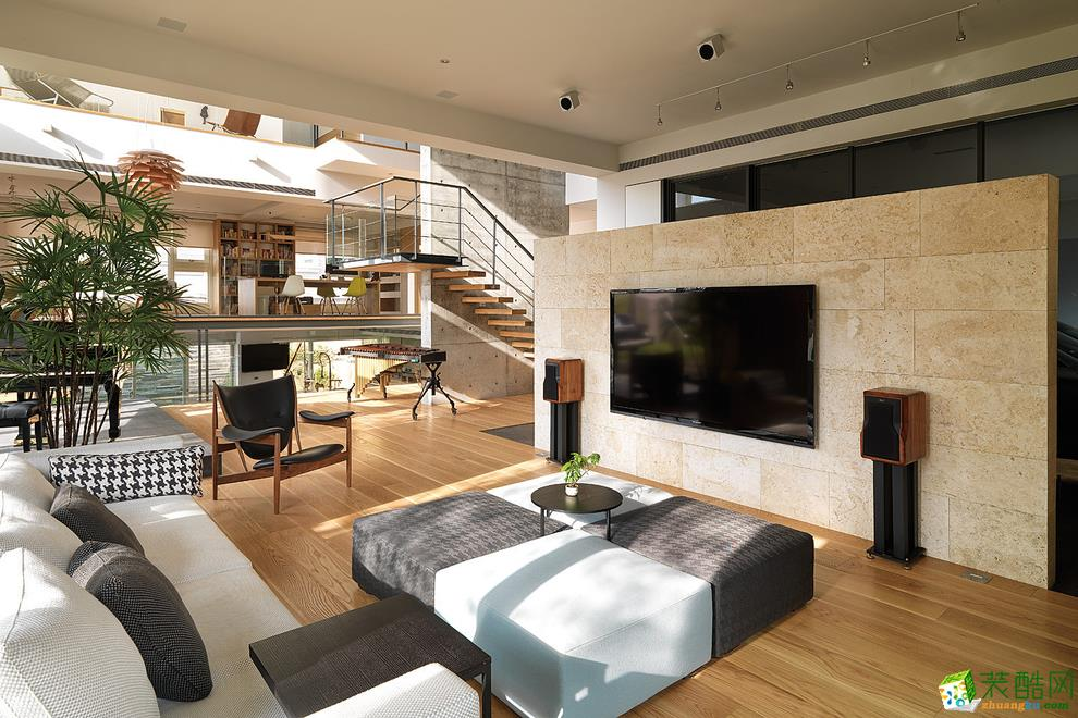 维享家装饰---中冶别麓园167�O现代简约四居室装修案例图