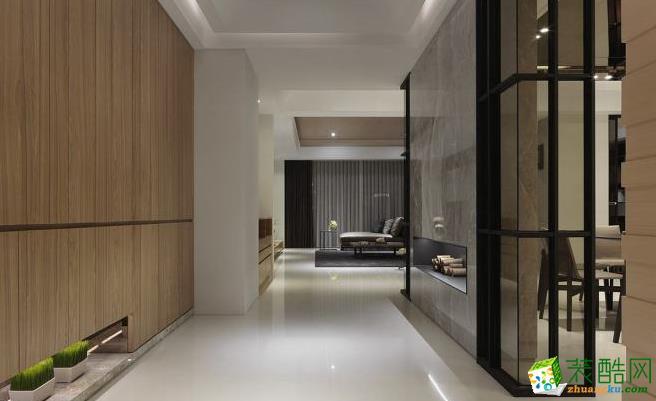 382平四居室现代风格装修效果图-隔断赏析