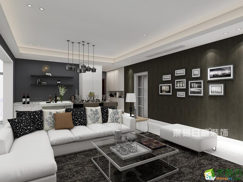 【东易日盛装饰】龙湖紫宸143�O现代简约四居室装修案例图