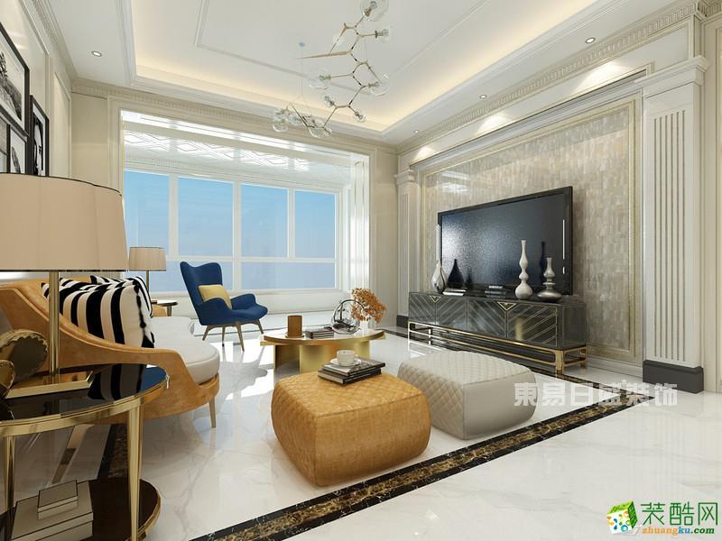 【东易日盛装饰】时代豪庭217�O简美风格四居室装修案例图