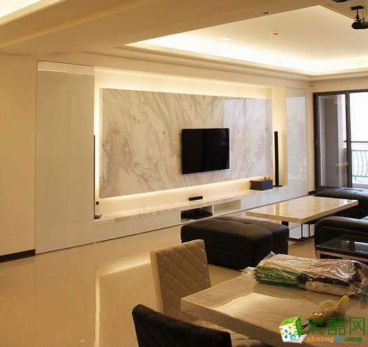 132平四居室现代风格装修效果图-摩度装饰