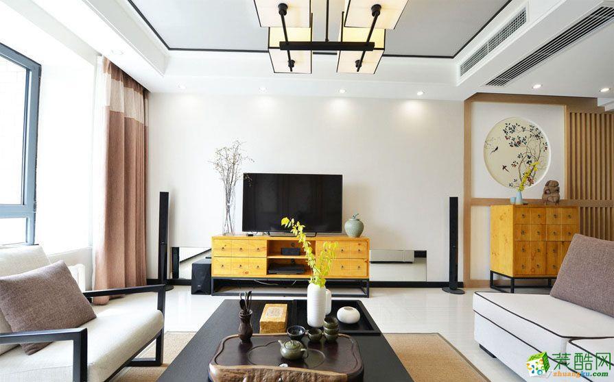 【德雕装饰】金沙园120�O新中式风格三居室装修案例图