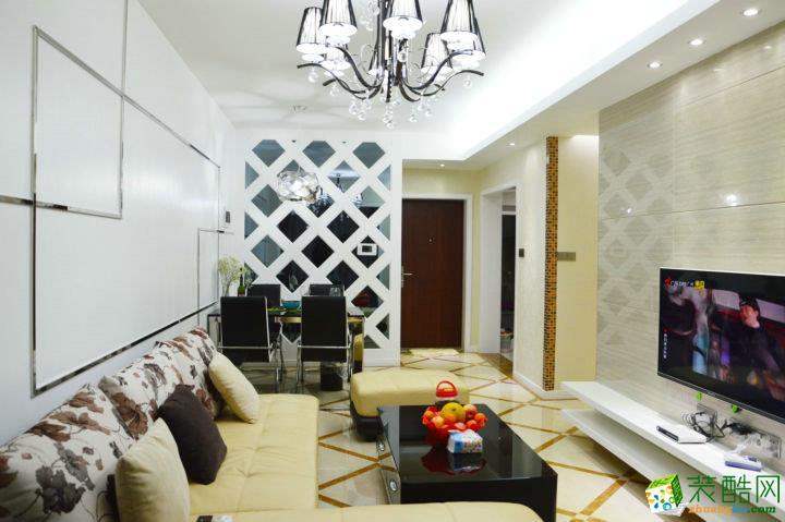 【鑫佰利装饰】远洋朗郡80�O现代简约风格两居室装修案例图