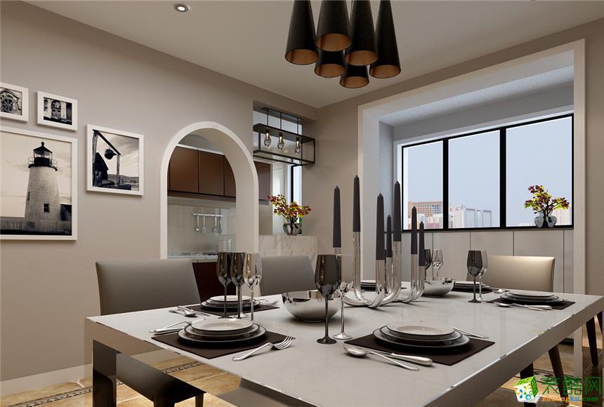 115平米现代简约三居室装修效果图