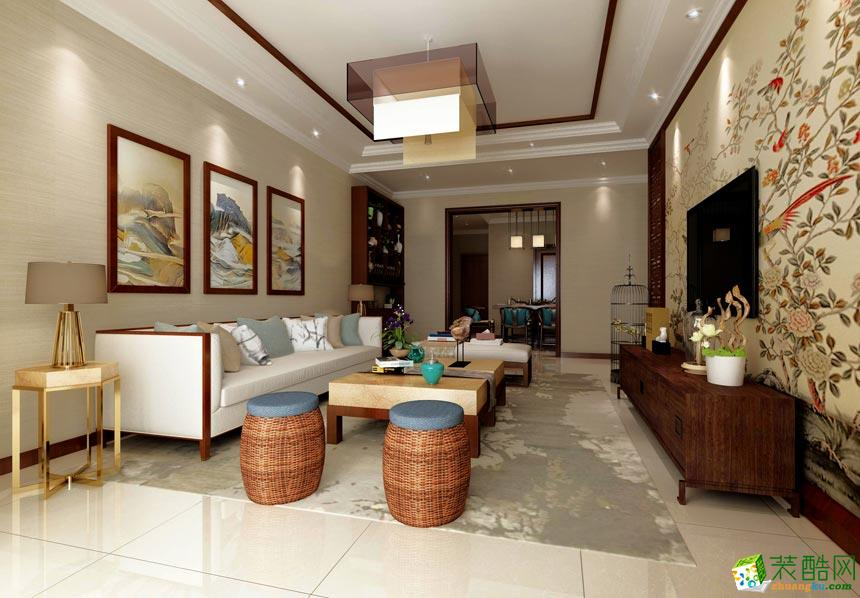 90平米新中式两居室装修效果图