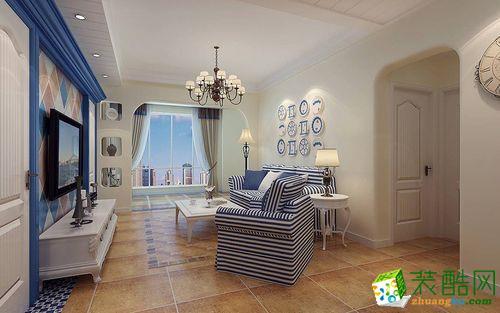 【绿森林装饰】金融街融景城110�O地中海风格三居室装修案例图