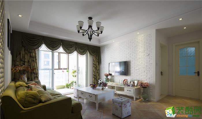 【澳华家装】金色华府104方三室两厅欧式风格装修效果图