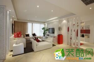 《重庆佳天下装饰》-白色新中式140�O中式风格三居室装修案例图